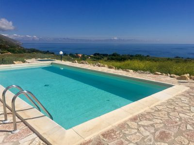 Photo for Casale Toia - Villa with swimming pool overlooking the sea