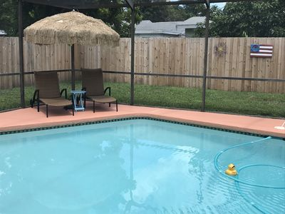 Photo for Paradise Found & it's only a mile to Indian Rocks Beach & it comes with a pool!