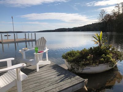 Photo for Inviting Winnipesaukee Cottage ~ Sandy Beach, Great Location, Dock for Boat