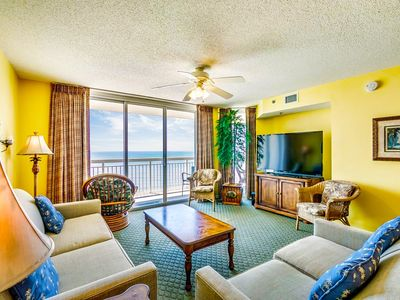 Photo for Crescent Shores 1411, 3 Bedroom Beachfront Condo, Hot Tub and Free Wi-Fi!