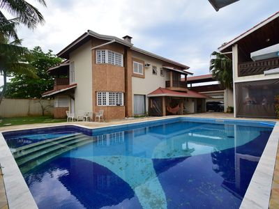Photo for High standard townhouse with pool 100 meters from the beach in Peruíbe