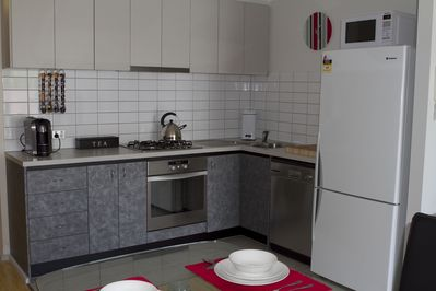 Fully equipped kitchen with quality equipment.