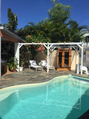 Photo for House with pool in Saint Pierre, quiet and 5 minutes from the lagoon