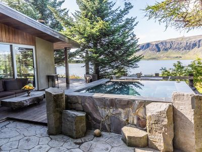 Photo for Lakefront Luxury Villa - Modern - Breathtaking view - Infinity hot tub