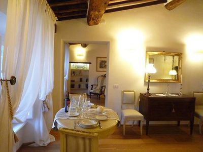 Photo for ELEGANT APARTMENT FOR 2 PEOPLE WITH ELEVATOR IN THE HEART OF LUCCA