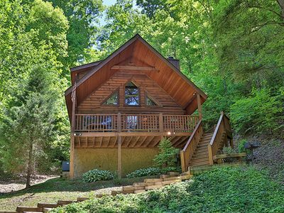 Photo for Private cabin w/ Pool Table & Hot Tub! Close to On Site Amenities: Pool, Putt Putt, Fishing & more!
