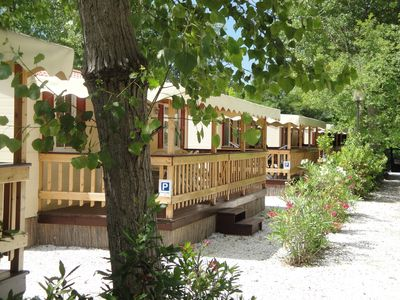 Photo for Tuscany | Mobile home and Chalet by the sea Campsite with swimming pool Viareggio Italy