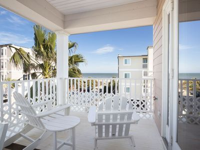 Luxurious Ocean-view Home, Only Steps from Mid Island Beach, Multiple Ocean View Balconies