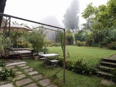 Photo for Small and beautiful - Garden apartment in a chalet near Rotsee on the outskirts of Lucerne