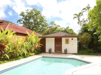 Photo for Romantic Mountain View Pool Cottage in Peaceful Hawaiian Valley