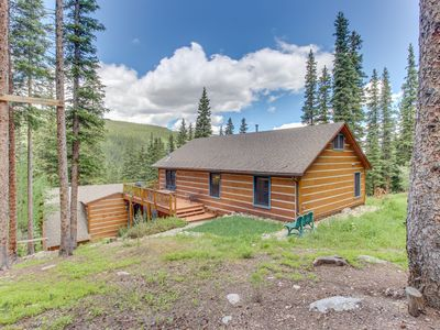 Photo for Magnificent log home w/views of Quandary Peak from inside & outside!
