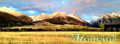 As you approach Home Sweet Home Montana.  magnificent Absaroka Range in April