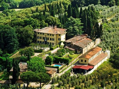 Villa Petrolo from above. View from the Medieval Tower of Galatrona