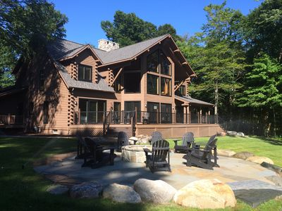 Photo for Custom Log Home across from All Sports Lakes