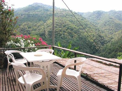 Photo for Apricale - Southfacing Holidayflat with lovely Terrace (4 Persons / 1 Bedrooms)
