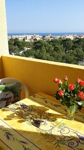 Photo for Apartment with panoramic views of the Mediterranean Sea, Wi-Fi, no vis a vis,