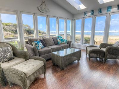 Photo for Oceanfront Home with Hot Tub on Miles Of Sandy Beach! Free Night!