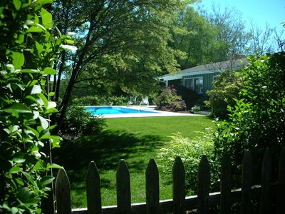 Photo for Best waterfront in Historic Village,  Gate leads from pool to Havens Beach
