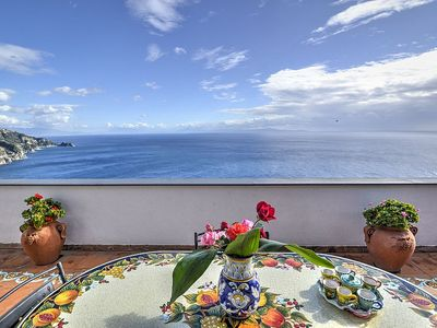 Photo for 2 bedroom Villa, sleeps 5 in Praiano with Air Con and WiFi