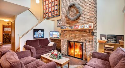 Sit down and curl up in front of the fire