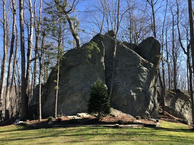 3 story boulder in the backyard!!