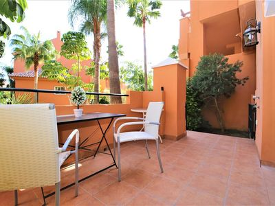 Photo for Modern and bright apartment with communal pool, Estepona port near restaurants, bars and beaches