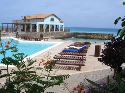 Photo for Porto Antigo 1 - 2 bedroom apartment poolside with sea and beach views.