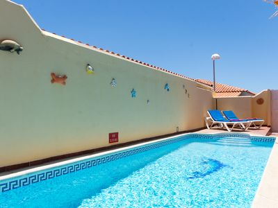 Photo for Tranquil 3 Bedroom Villa. Private Heated Pool. Sleeps 6. Callao Salvaje  |MAR