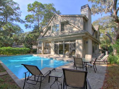 Photo for Sea Pines Huge Beach Home ! 15 Green Heron Road on beach walk