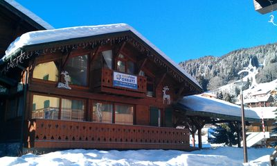 Photo for Chalet Portes du Soleil 2 - Ski Chalet centrally located, footsteps to ski slopes, lifts and ski Sch