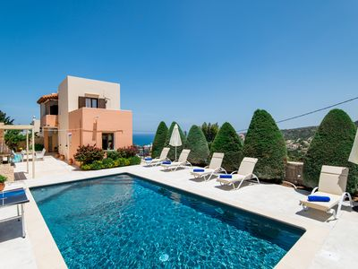 Photo for Villa Elmyra, amazing sea views, walking distance to amenities, car free holiday