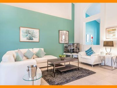 Photo for Solterra Resort 45 - Stylish villa with private pool & game room near Disney