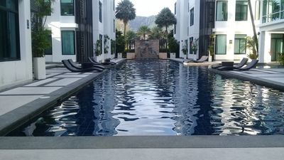One of the 30m communal pools but the penthouse has its own private pool & sauna