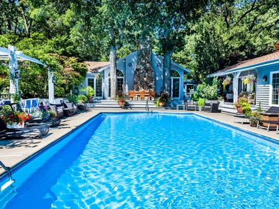 Photo for Very private with a pool, a block to beach