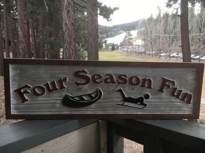 Four Season Fun- Big Bear Ski and Lake Vacation- Ski, Swim, Paddle, Sled, Bike.