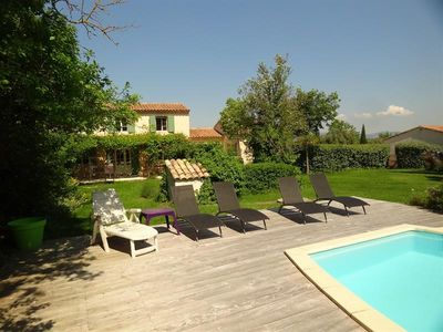 Photo for Beautiful property in the countryside in Mazan - View on Ventoux - Beautiful garden with private pool