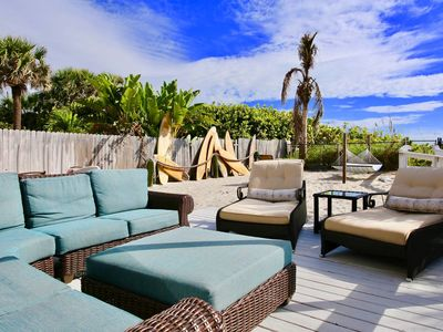 Photo for Beachfront Backyard Bliss! Great Views, Sleeps 9