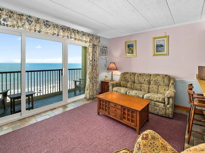 Ocean Front 1 Bedroom Condo with Outdoor Pool in Sandpiper Dunes!
