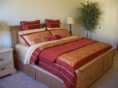 Master Bedroom - King Bed with large bath and walk in closet.