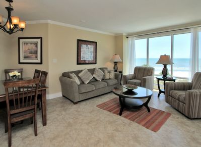 Living Room with Balcony Access at 1401 Villamare
