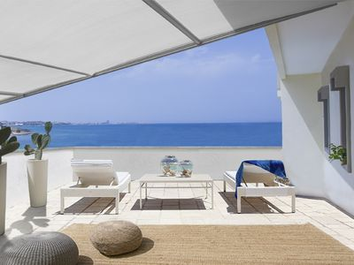 Photo for Premium Suite★Private Beach Access & Rooftop Terrace★Gallipoli Puglia