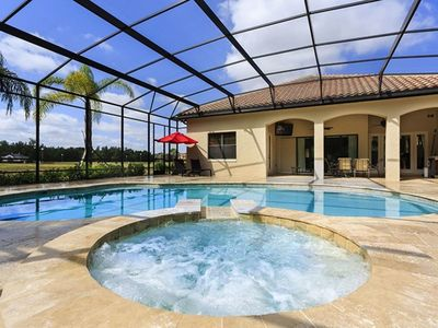 Photo for Picture Relaxing by your Private Pool in Your Beautiful Villa in Reunion Resort and Spa, Orlando Villa 1316