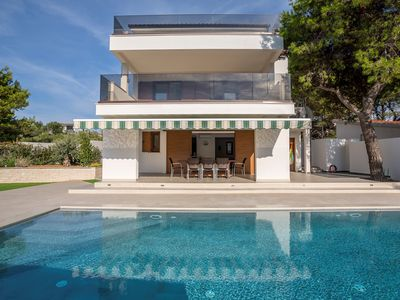 Photo for ctra162/ Newly built, modern villa with private pool and breathtaking views, 7 adults + 2 children in Rogoznica - Trogir