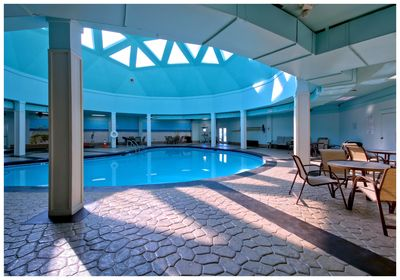 Indoor Pool with Hot Tub, Sauna, and Game Room just down the hall from the unit.