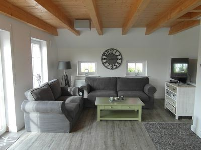 Photo for dreamlike holiday home on the North Sea | rebuilt | Fireplace | beach chair | Lounge
