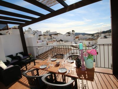 Photo for Village house with fantastic view on roof terrace 10 minutes from Marbella