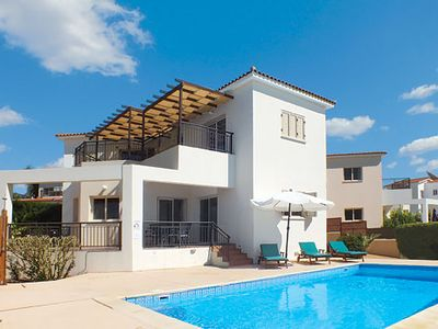 Photo for Modern villa in a lively locale with a beach, restaurants & pavement cafes galore