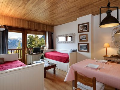 Photo for Apartment ski in/out in Courchevel Village (1550)