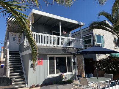 Upstairs unit on Jersey Court- 3 bedroom/2 bath. Just steps to the beach!