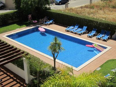 Photo for +++ max 2 + 2 guests - beach at 300 m - air conditioning - balcony with barbecue - pool